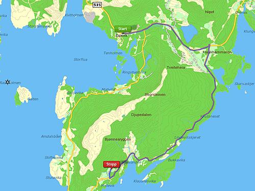 Kart over Hest, Nedstrand